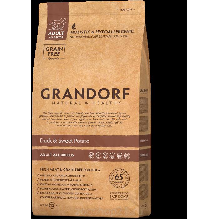 Корм GRANDORF Утка с картофелем для взрослых собак всех пород, 1 кг