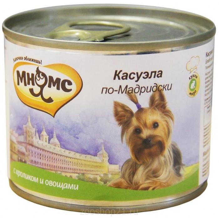 Корм Мнямс консервы для собак Касуэла по-Мадридски (кролик с овощами), 200 г