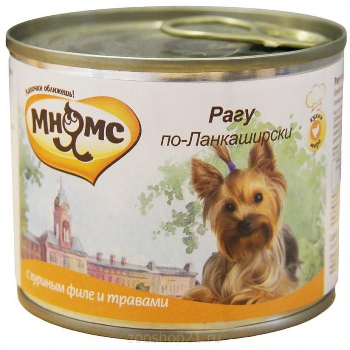 Корм Мнямс консервы для собак Рагу по-Ланкаширски (куриное филе с травами), 200 г