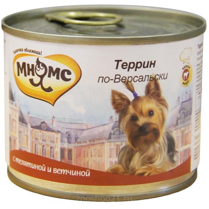 Корм Мнямс консервы для собак Террин по-Версальски (телятина с ветчиной), 200 г