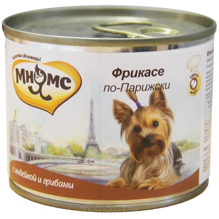 Корм Мнямс консервы для собак Фрикасе по-Парижски (индейка c пряностями), 200 г
