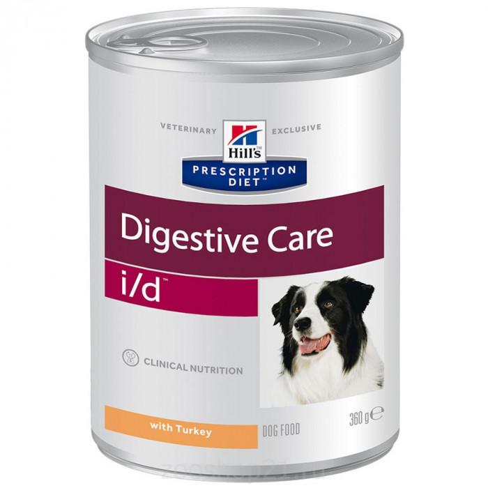 Корм Hill's Prescription Diet i/d Digestive Care консеры для собак диета для поддержания здоровья ЖКТ с идейкой, 360 г
