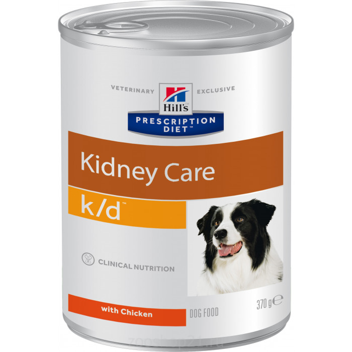 Корм Hill's Prescription Diet k/d Kidney Care консервы для собак диета для поддержания здоровья почек с курицей, 370 г