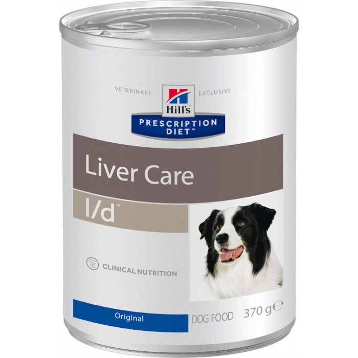 Корм Hill's Prescription Diet L/d Liver Care консервы для собак диета для поддержания здоровья печени, 370 г