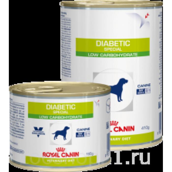 Корм Royal Canin Diabetic special Low Carbohydrate консервы для собак при сахарном диабете, 410 г