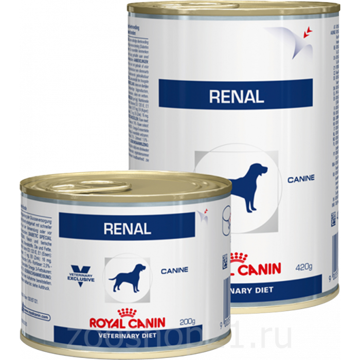 Корм Royal Canin Renal консервы для собак при лечении почек, 200 г