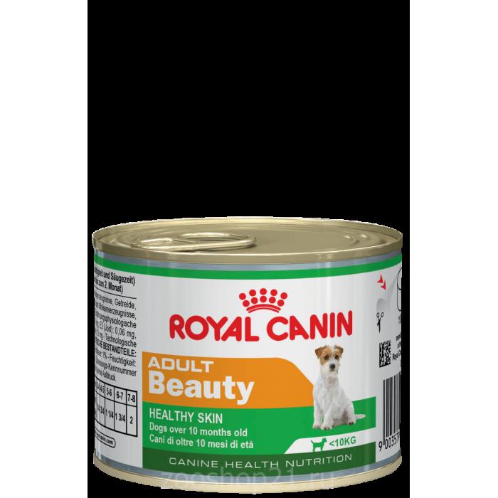 Корм Royal Canin Adult Beauty (мусс) для поддержания здоровья шерсти и кожи 1-8 лет, 195 г