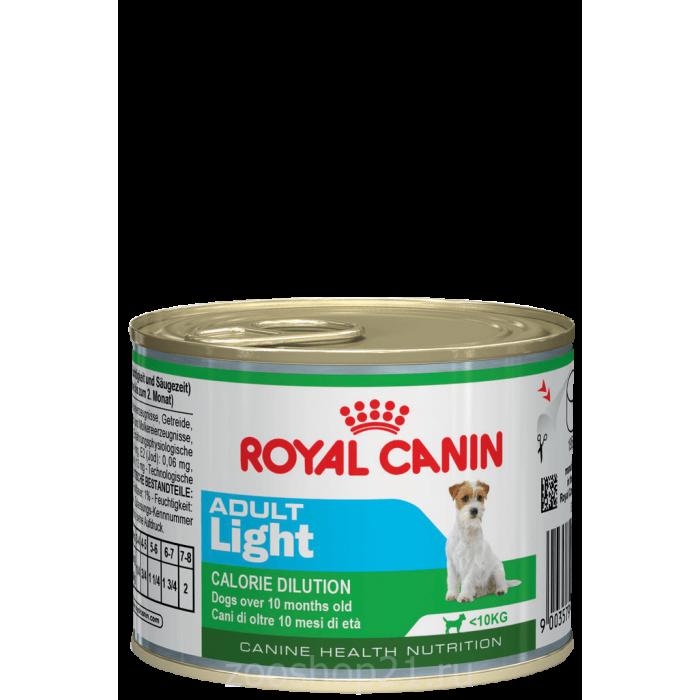 Корм Royal Canin Adult Light (мусс) при избыточном весе 10 мес. - 8 лет, 195 г