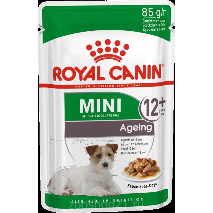Корм Royal Canin Mini Ageing 12+ (в соусе) для собак малых пород (до 10 кг), старше 12 лет, 85 г
