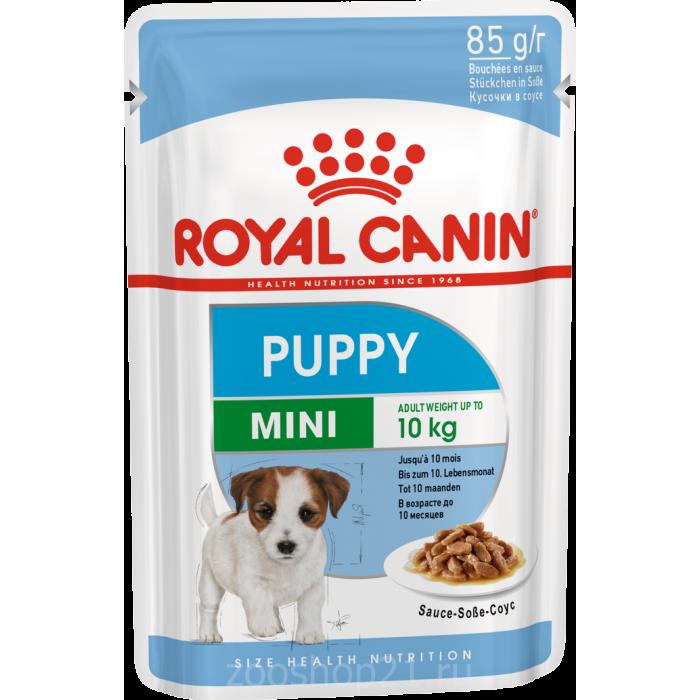 Корм Royal Canin Mini Puppy (в соусе) для щенков малых пород 2-10 мес., 85 г