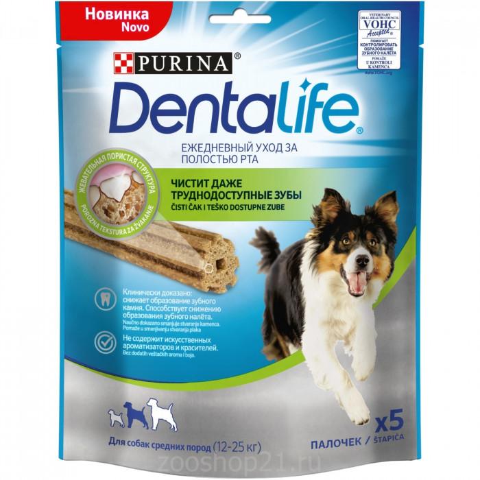 Лакомство Purina DentaLife для полости рта собак средних пород, 115 г