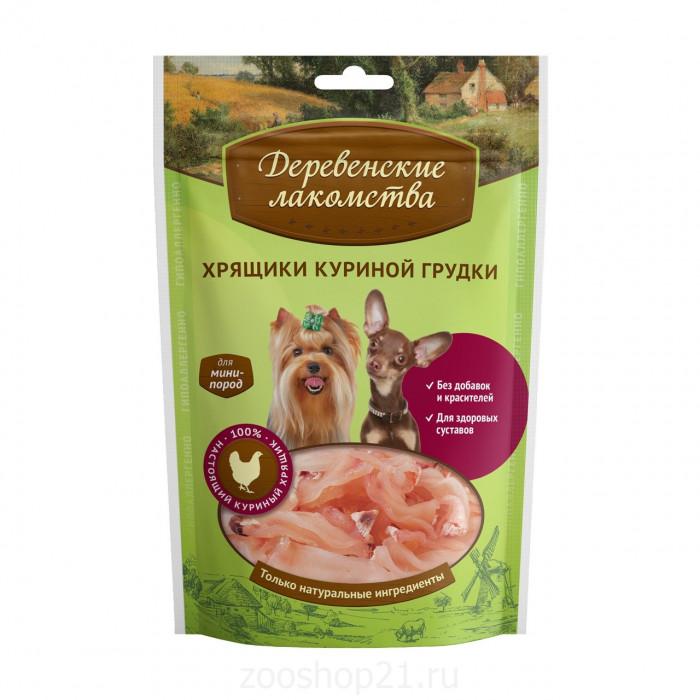 Деревенские лакомства Хрящики куриной грудки для мини-пород, 30 г