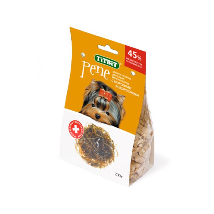 Лакомство для собак TiTBiT Печенье PENE с морскими водорослями, 200 г