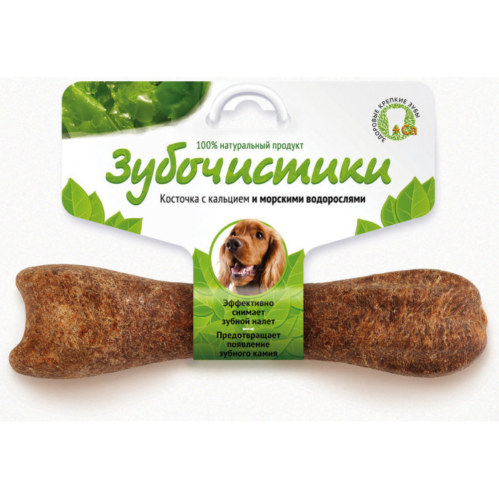 "Лакомство ""Зубочистики"" для собак средних пород, с морскими водорослями"