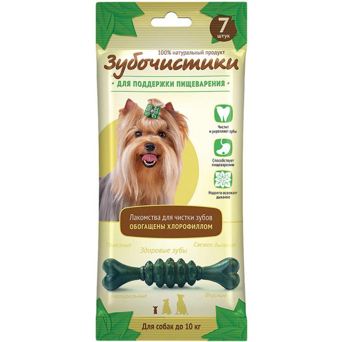 """Лакомство Зубочистики """"Мятные"""" для собак мелких пород, для поддержания пищеварения, 7 шт"""