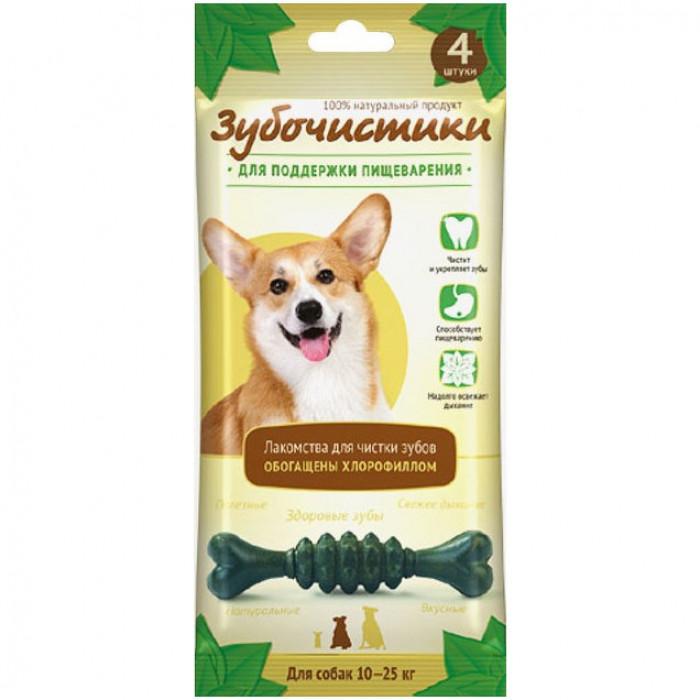 """Лакомство Зубочистики """"Мятные"""" для собак средних пород, для поддержания пищеварения, 4 шт"""