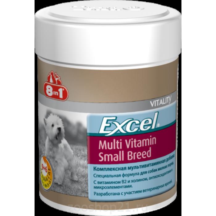 8в1 Эксель Мультивитамины для собак мелких пород, 70 таблеток