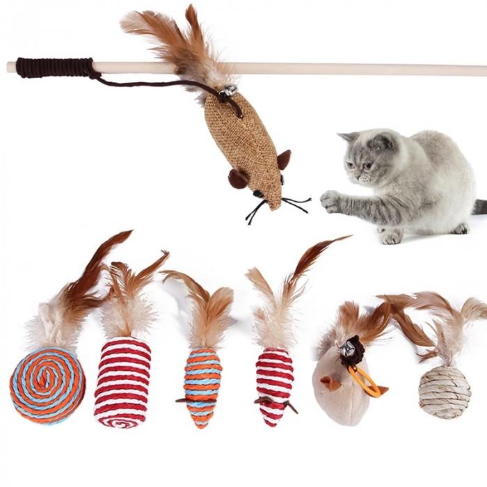 Набор из 7 игрушек для кошек