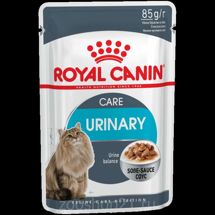 Корм Royal Canin Urinary Care (в соусе) для профилактики МКБ, 85 г