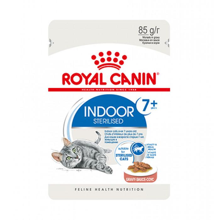 Корм Royal Canin Indoor Sterilized 7+ (в соусе) для домашних стерилизованных кошек старше 7 лет, 85 г