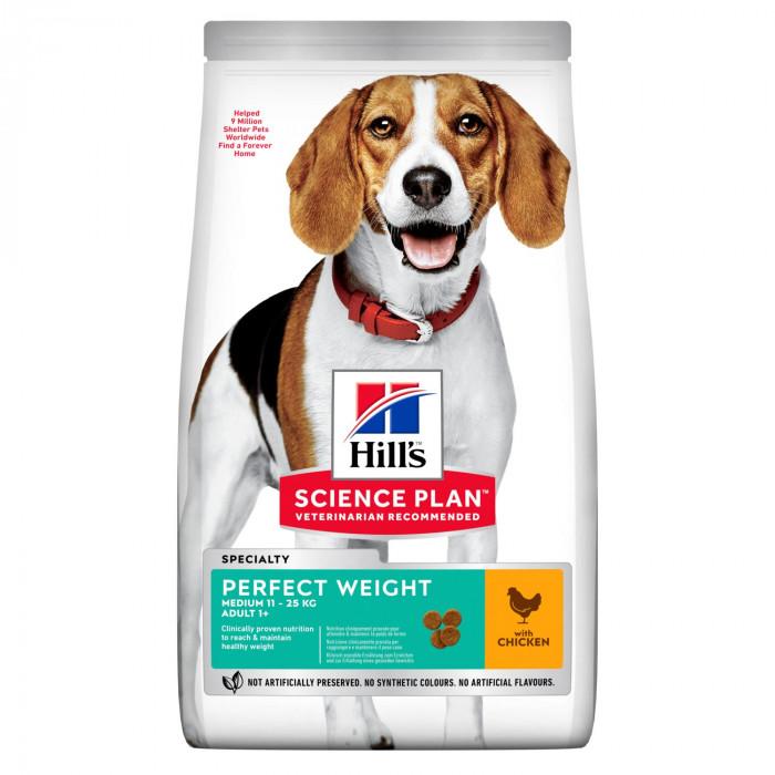 Корм Hill's Science Plan Perfect Weight для собак старше 1 года, склонных к набору веса с курицей, 12 кг