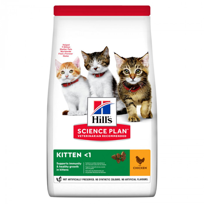 Корм Hill's Science Plan для котят до 12 месяцев курица, 1.5 кг