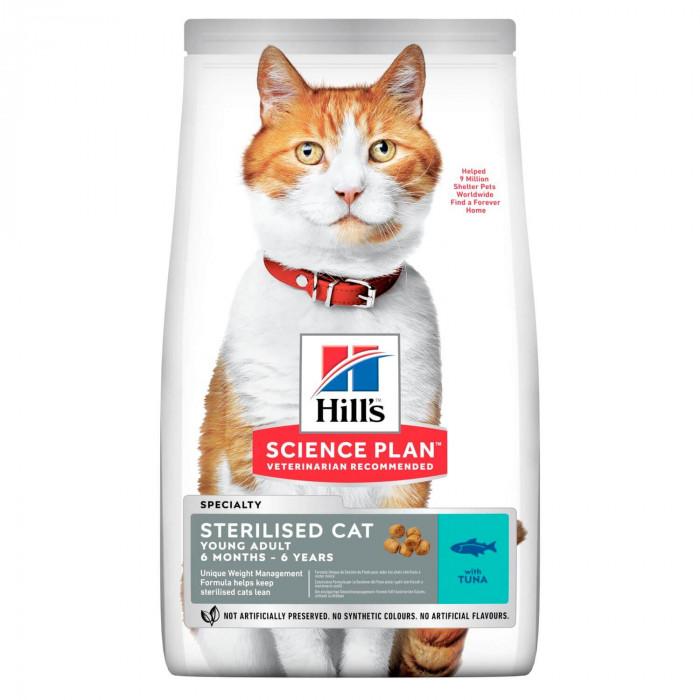 Корм Hill's Science Plan Sterilised Cat для стерилизованных кошек от 6 мес. до 6 лет с тунцом, 1.5 кг
