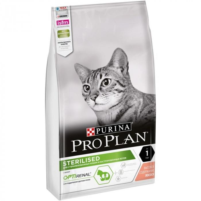 Корм PRO PLAN Sterilised OPTI RENAL (комплекс для поддержания здоровья почек) для стерилизованных кошек с лососем, 1.5 кг