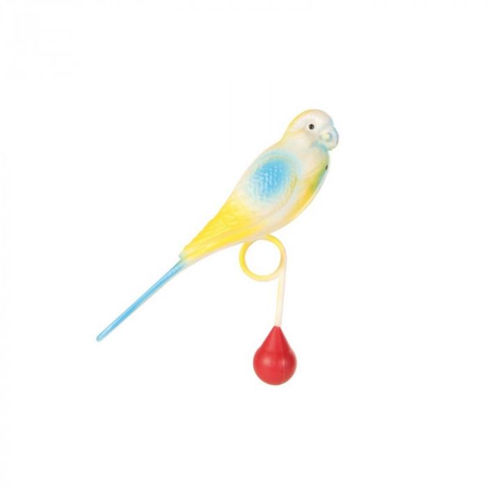 Игрушка для птиц попугай на кольце 15 см