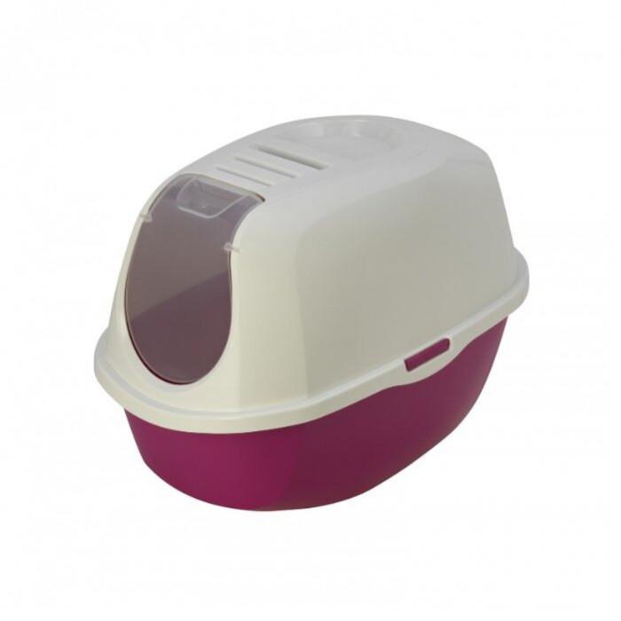 Moderna Туалет-домик SmartCat с угольным фильтром, 54х40х41см, ярко-розовый