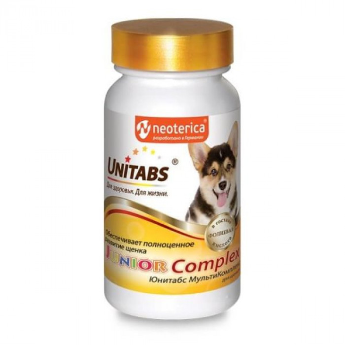 Юнитабс Джуниор Комплекс с B6 для щенков, 100 таблеток