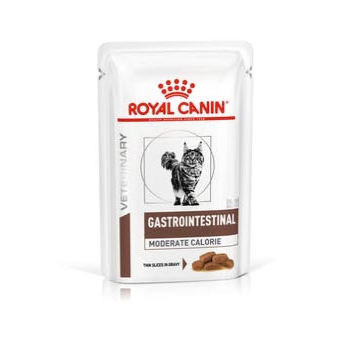 Корм Royal Canin Gastro Intestinal Moderate Calorie (в желе) для кошек при лечении ЖКТ (низкокалорийный), 100 г
